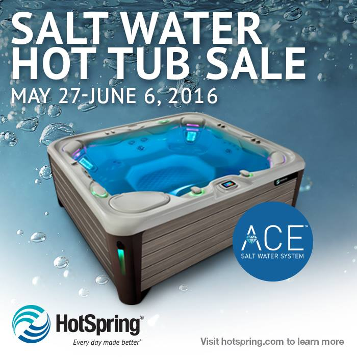 SALT WATER HOT TUB SALE - Grigg Pools and Outdoor Living