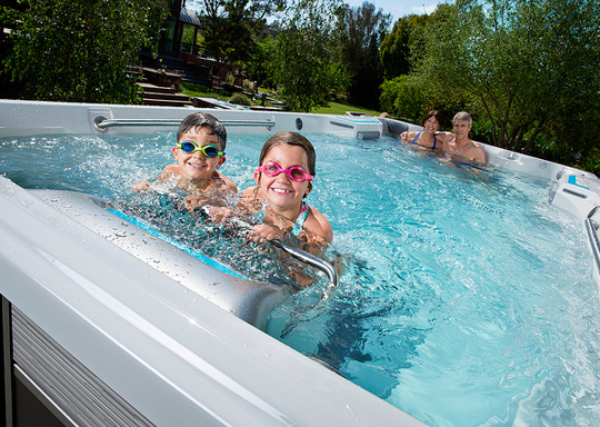 endless swim spa fun for kids